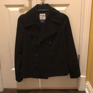Old Navy black peacoat! I'm good condition.